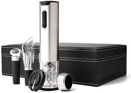 <b>Multifunction Electric Wine</b> Opener Cordless Rechargeable <b>5</b> Piece ...