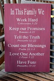 Christian Family Rules Sign, Bible Verses, Christian Values sign ...