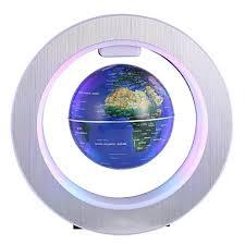 <b>LED World Map Novelty</b> Magnetic Levitation Floating Globe ...