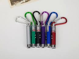 <b>12pcs</b>/<b>lot</b> 3 in 1 <b>Multi Color LED</b> Mini Flashlight Torch with Carabiner ...