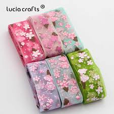 Lucia crafts <b>10y 25mm</b> Gradient color Organza Ribbons for Wedding ...