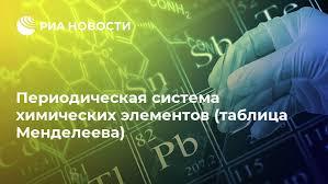<b>Периодическая система химических элементов</b> (таблица ...