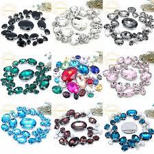 5 SIZES <b>30PCS Free shipping</b>! Mix oval shape size Glass Crystal ...