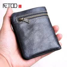 <b>AETOO</b> Mini purse men and women <b>handmade</b> leather ultra thin soft ...
