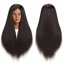 "Traininghead 26-28"" Afro <b>Mannequin</b> Head <b>Yaki Synthetic</b> Hair ..."