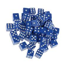 Baoblaze <b>50pcs</b> Acrylic Six <b>Sided Dice</b> Point, 12mm, <b>Dice</b> & Gaming ...