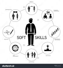 soft skills vector icons pictograms set stock vector  soft skills vector icons and pictograms set black and white
