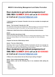 mk0016 advertising management and s promotion 4 th sem mba summe