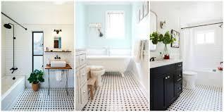 white bathroom floor: classic black and white tiled bathroom floors are making a huge comeback