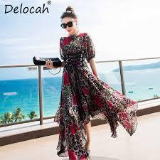 <b>Delocah Women Spring Summer</b> Dress Runway Fashion Designer ...