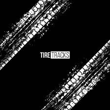 <b>Tire</b> Tracks Vector Illustration. White Grunge Automobile <b>Wheel</b> ...