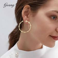 ES407 Twisted Pearl <b>Earrings</b> Female European Exaggerated ...