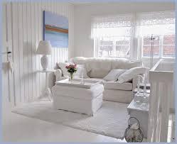 coastal beach house white on white slipcover living room chic small white home