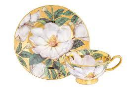 <b>Чайная пара</b> 2 предмета 220 мл <b>Elan Gallery</b> Белый шиповник на ...