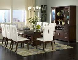 modern wood dining room sets: modern black dining room table centerpieces  chairs white leather