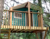 The Treehouse Guide   DIY building  designs and plans referenceZelkova treehouse plans for two trees