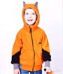 <b>Кофта лисфлис</b> оранжевая с <b>ушками</b> 80+6 - Личные вещи ...