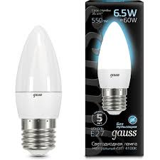<b>Лампа Gauss 103102207</b> LED Candle E27 6.5W 4100К