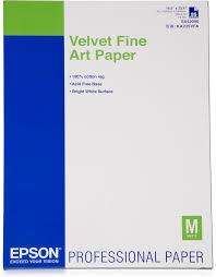 Velvet <b>Fine Art Paper</b>, DIN A2, 260g/m², 25 Sheets - <b>Epson</b>