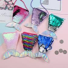 <b>Lanyard Sequins</b> Coin <b>Purse</b> Diagonal Small Fishtail Two-color ...
