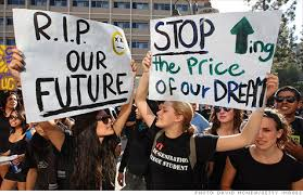 Image result for student loan debtors protest