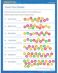 Count Your Cereals – Free Addition Worksheet for Grade 1 – Math ...Count Your Cereals - Printable Addition Worksheet for Elementary