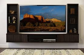 Floating TV Stand <b>Wall</b> Mount Entertainment Center - The Curve - <b>5</b> ...
