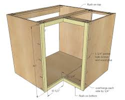 how to make kitchen cabinets: ana white build a quot corner base easy reach kitchen cabinet basic model