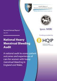 national heavy menstrual bleeding audit second annual report national heavy menstrual bleeding audit front cover