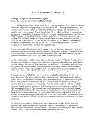 personal statement for dietetic internship