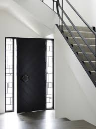 Modern Front Door Designs - Black window frames for new modern exterior