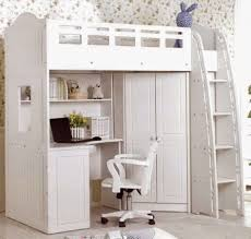 kids loft bed with desk white carpet bunk bed closet wardrobe storage blue painting wall twin bed desk dresser combo home