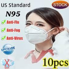 10pcs N95 Mask virus Medical Respirator KN95 N95 PM2.5 ... - Vova