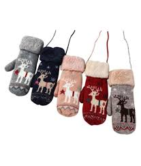 Christmas Gloves,Cute Thicken <b>Christmas Deer</b> Hot Girls Boys Of ...