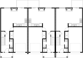 Triplex House Plans Best Selling Bedroom   Baths Car GarageMain Floor Plan for T  Triplex House Plans  Bedroom House Plan