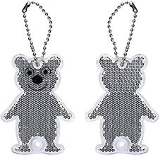 Lantra Besa Children Kids <b>Reflective</b> Keyrings <b>2Pcs</b> Bears for ...