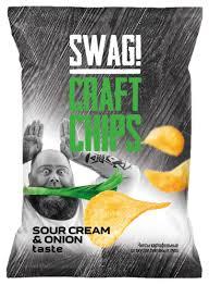 <b>Чипсы SWAG</b> Craft Chips картофельные со вкусом сметаны и лука