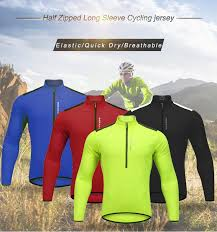 <b>WOSAWE</b> Autumn Cycling Jersey Long Sleeve <b>Men MTB Road</b> Bike ...