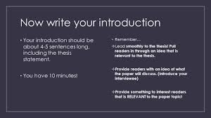 c causal essay step by step parts of a thesis topic the main  now write your introduction your introduction should be about   sentences long including