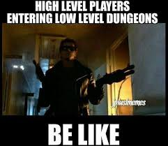 gamer memes 003 high level player low level dungeons | via Relatably.com