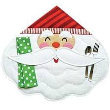 Merry <b>Santa</b> Place <b>Mat</b> & Napkin <b>Pattern</b> | <b>Placemats patterns</b> ...