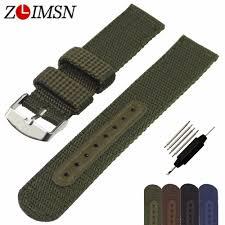 <b>ZLIMSN Watch Band</b> Strap Nylon Mesh Watchbands Women Men ...