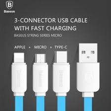 BASEUS <b>3in1</b> for Lightning Fast Charging + <b>Micro USB</b> Cable + ...