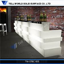 home kitchen countertops commercial wine bar counters led designs acrylic lighted reception desk reception counter design