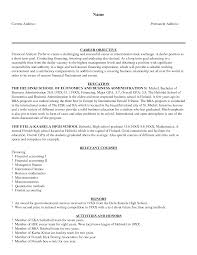 doc 500647 financial cv template business administration cv resume examples summary examples for resume examplesforresume