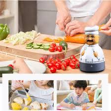 Fashion <b>creative kitchen timer</b> mechanical cute little chef style alarm ...