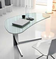 furniture magnificent office table glass top curved shaped minimalist office chair white colored apple notebook amazing black glass office