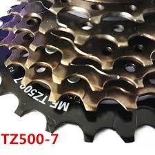 <b>SHIMANO MTB Bike</b> MF-TZ500-7 Threaded <b>Freewheel</b> 7 Speed ...