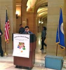 charter essay contest winners present at the state capitol aviael sanchez chavira 5th grader from partnership academy shares his essay