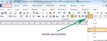 Where is the Double Spacing in Microsoft Word                  and Where is the Double Spacing in Microsoft Word                  and
